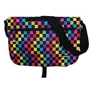 Yak-Pak Multi-Colored Checkered Messenger Bag